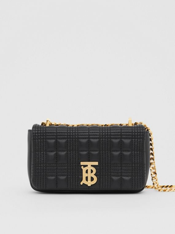 Mini Quilted Lambskin Lola Bag in Black