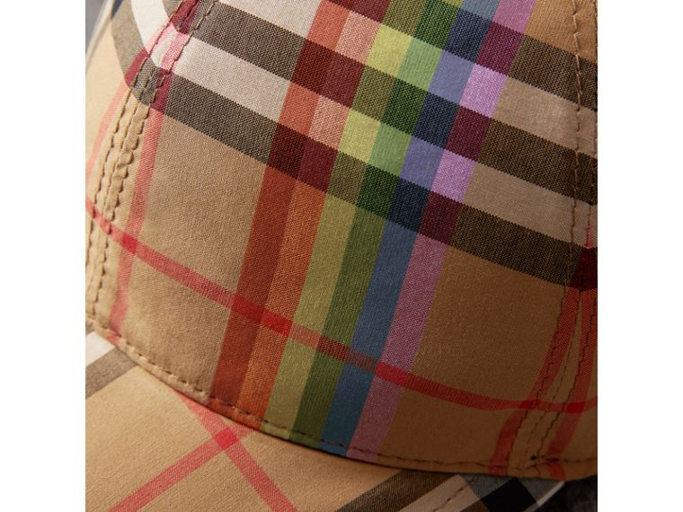 Rainbow Vintage Check Baseball Cap in Antique Yellow/rainbow | Burberry - cell image 1