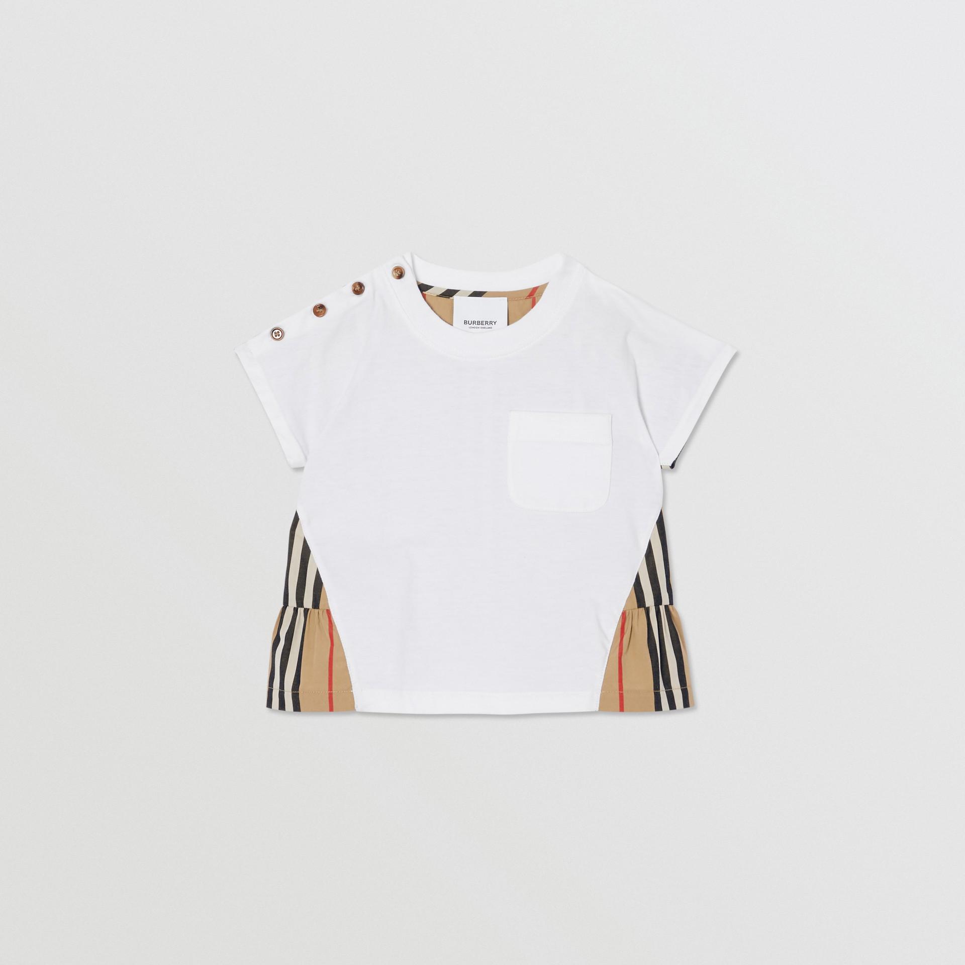 アイコンストライプパネル コットンTシャツ (ホワイト/アーカイブベージュ) - チルドレンズ | バーバリー - ギャラリーイメージ 0