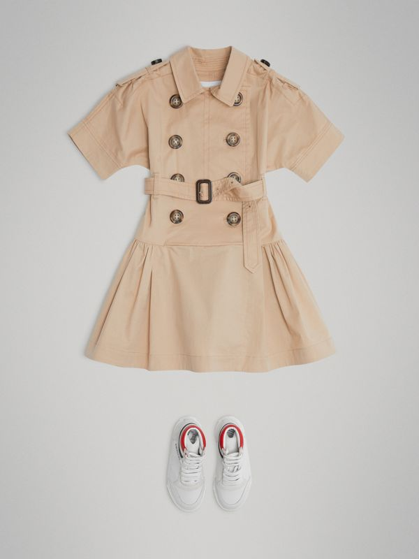 Stretch Cotton Trench Dress in Honey | Burberry United Kingdom - cell image 2