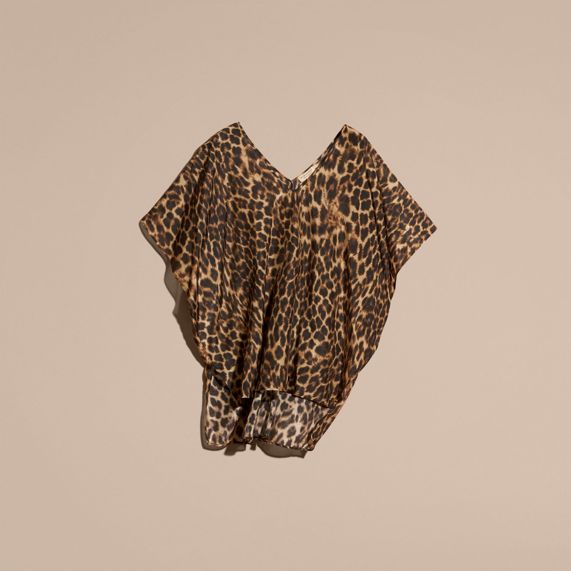 Animal Print Cotton Silk Swimwear Cover-up - gallery image 4