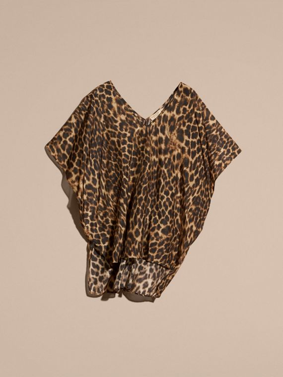 Animal Print Cotton Silk Swimwear Cover-up - cell image 3