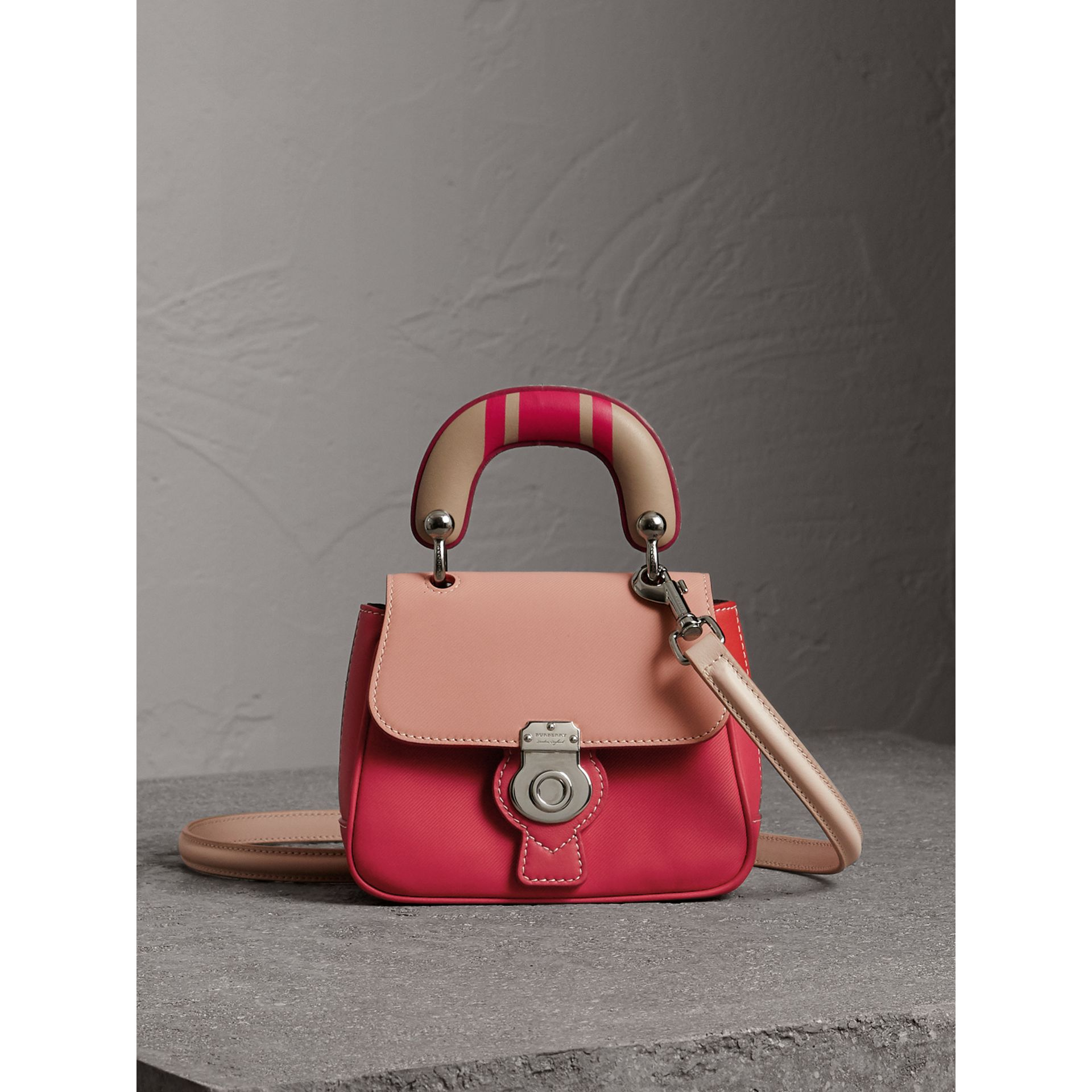 Burberry The Mini Dk88 Top Handle Bag With Geometric Print In Russet ... 29cc7a60fd