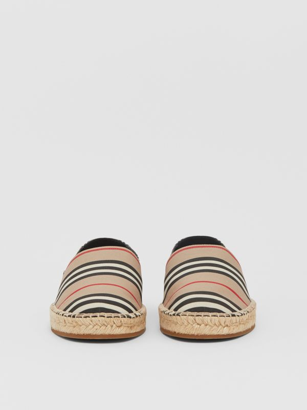 Icon Stripe Espadrilles in Archive Beige - Men | Burberry United Kingdom - cell image 2