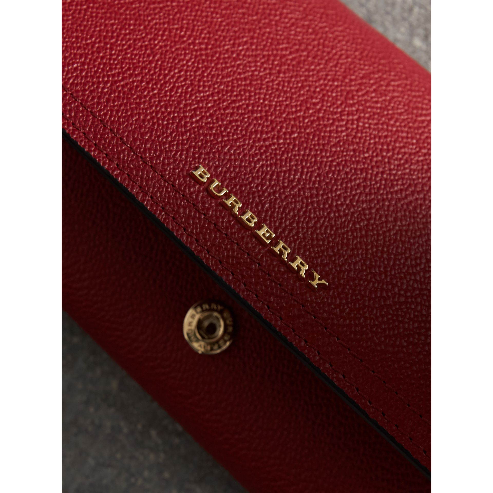 Leather Continental Wallet with Removable Coin Case in Parade Red - Women | Burberry - gallery image 5