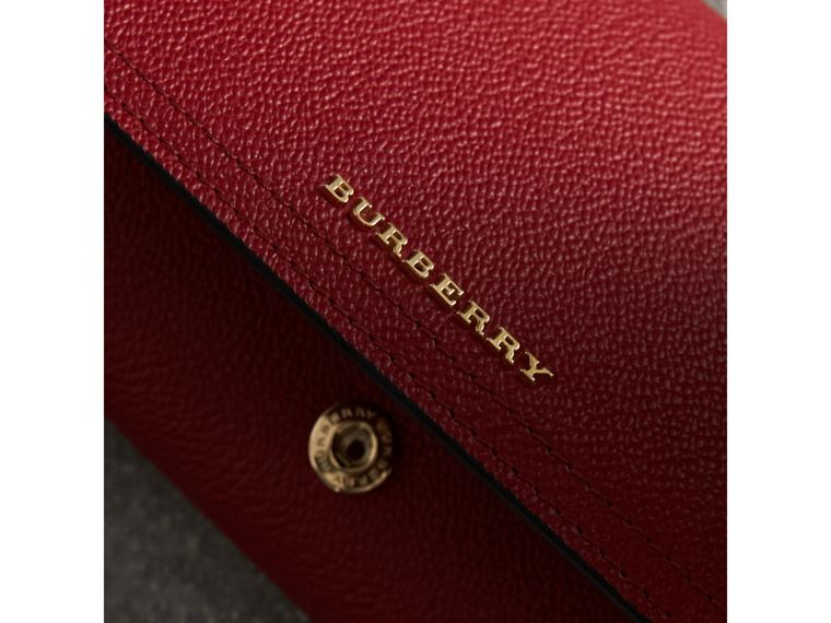 Leather Continental Wallet with Removable Coin Case in Parade Red - Women | Burberry - cell image 4