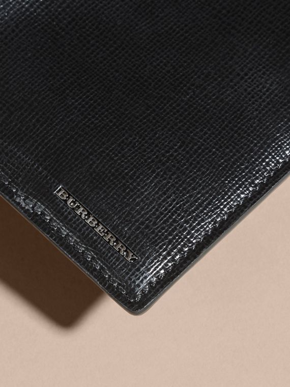London Leather Continental Wallet in Black | Burberry Australia - cell image 3