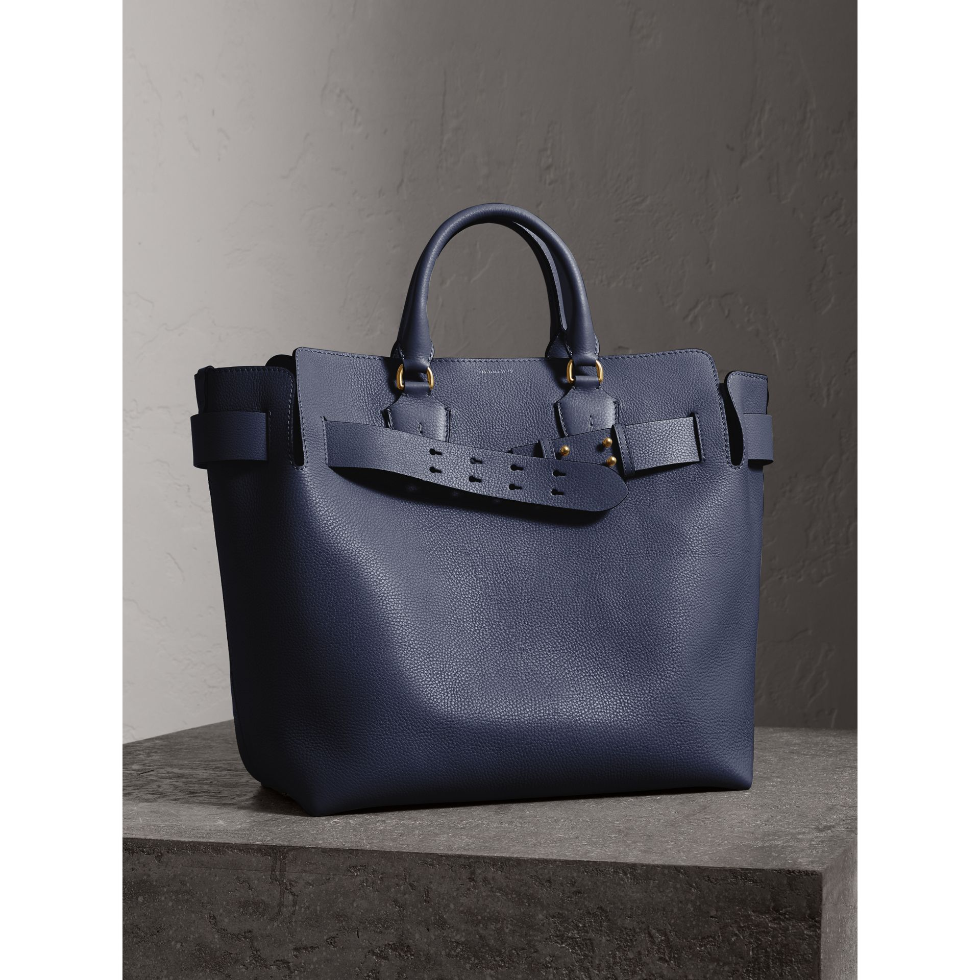The Large Leather Belt Bag in Regency Blue | Burberry - gallery image 8