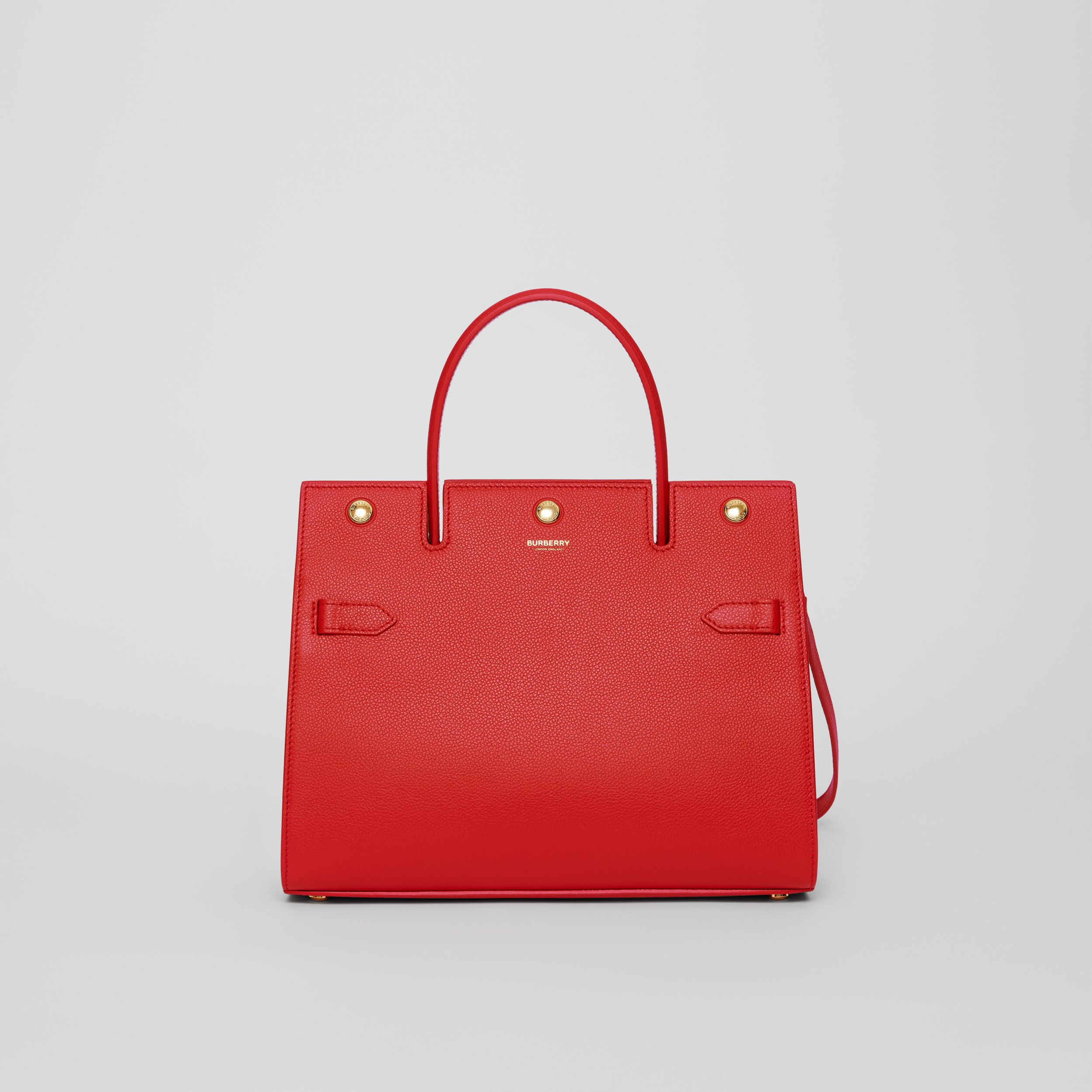 Small Leather Title Bag in Bright Red - Women | Burberry - 1