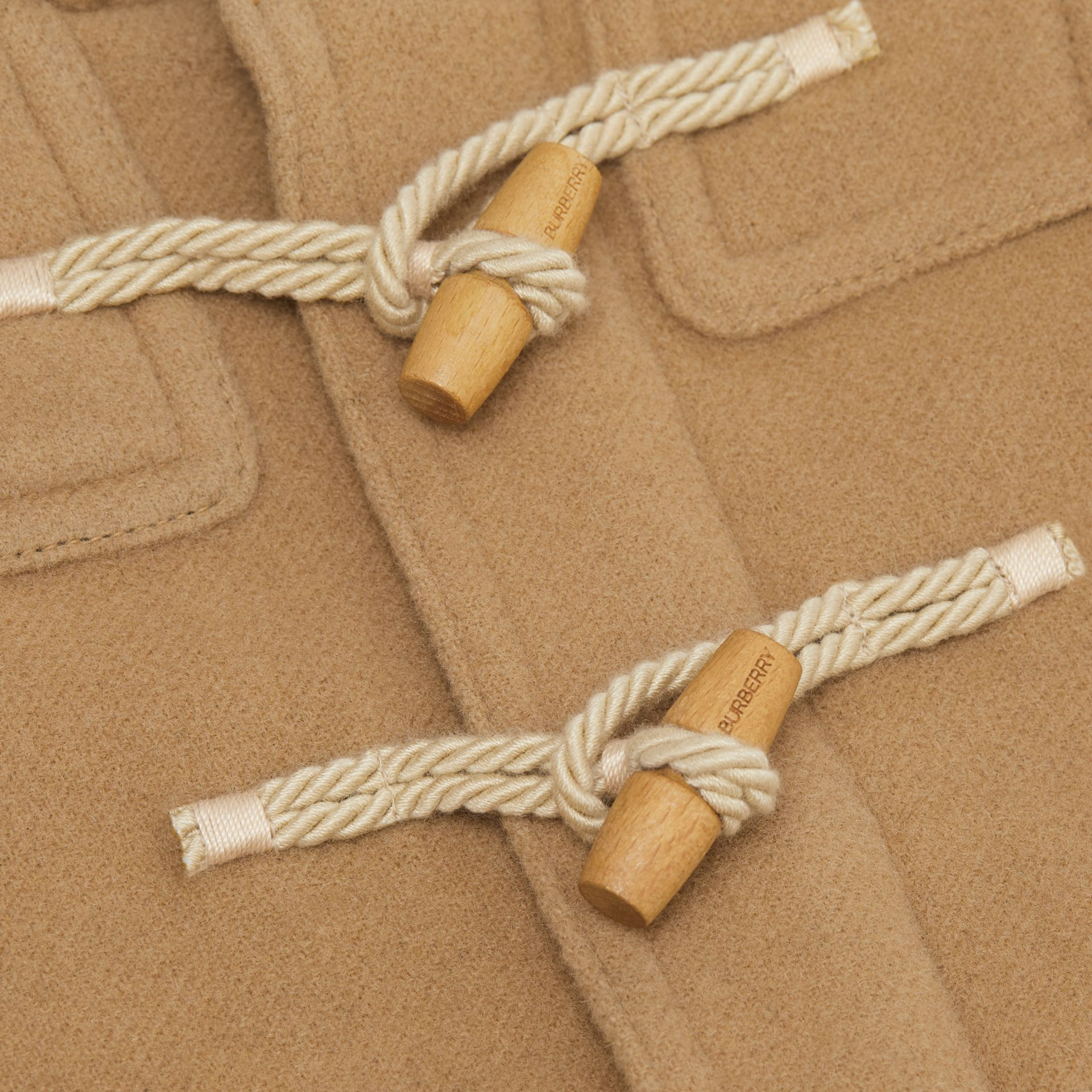 Boiled Wool Duffle Coat in Archive Beige - Children | Burberry Canada - gallery image 1