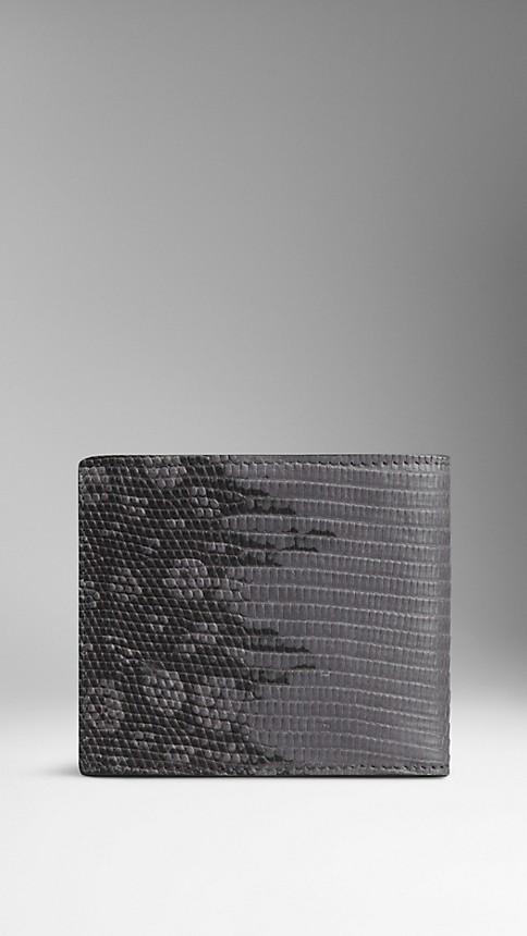 Mid grey melange Dégradé Lizard Folding Wallet - Image 2