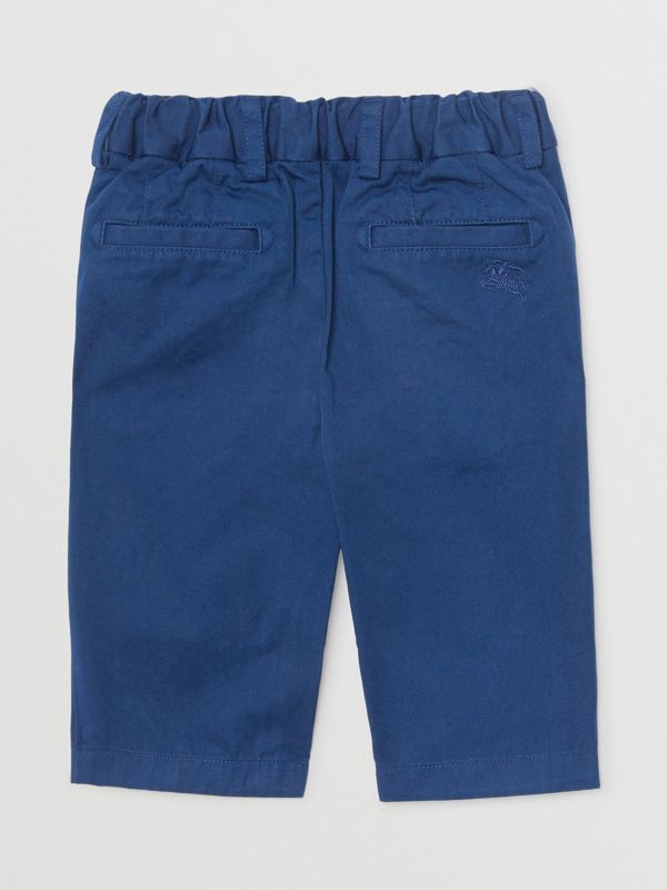 Cotton Chinos in Bright Navy - Children | Burberry Canada - cell image 3