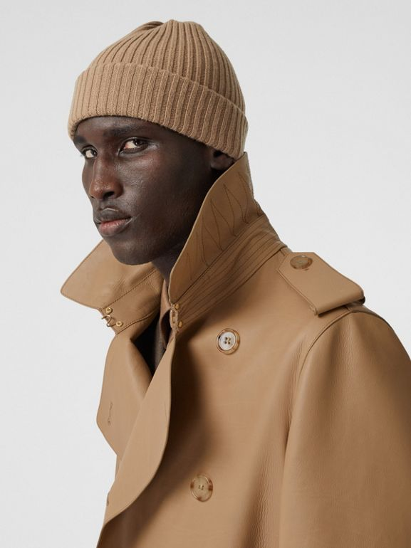 Plonge Leather Trench Coat in Camel - Men | Burberry - cell image 1