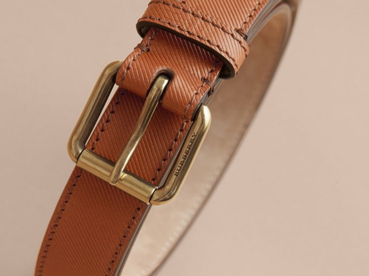 Trench Leather Belt in Tan - cell image 2
