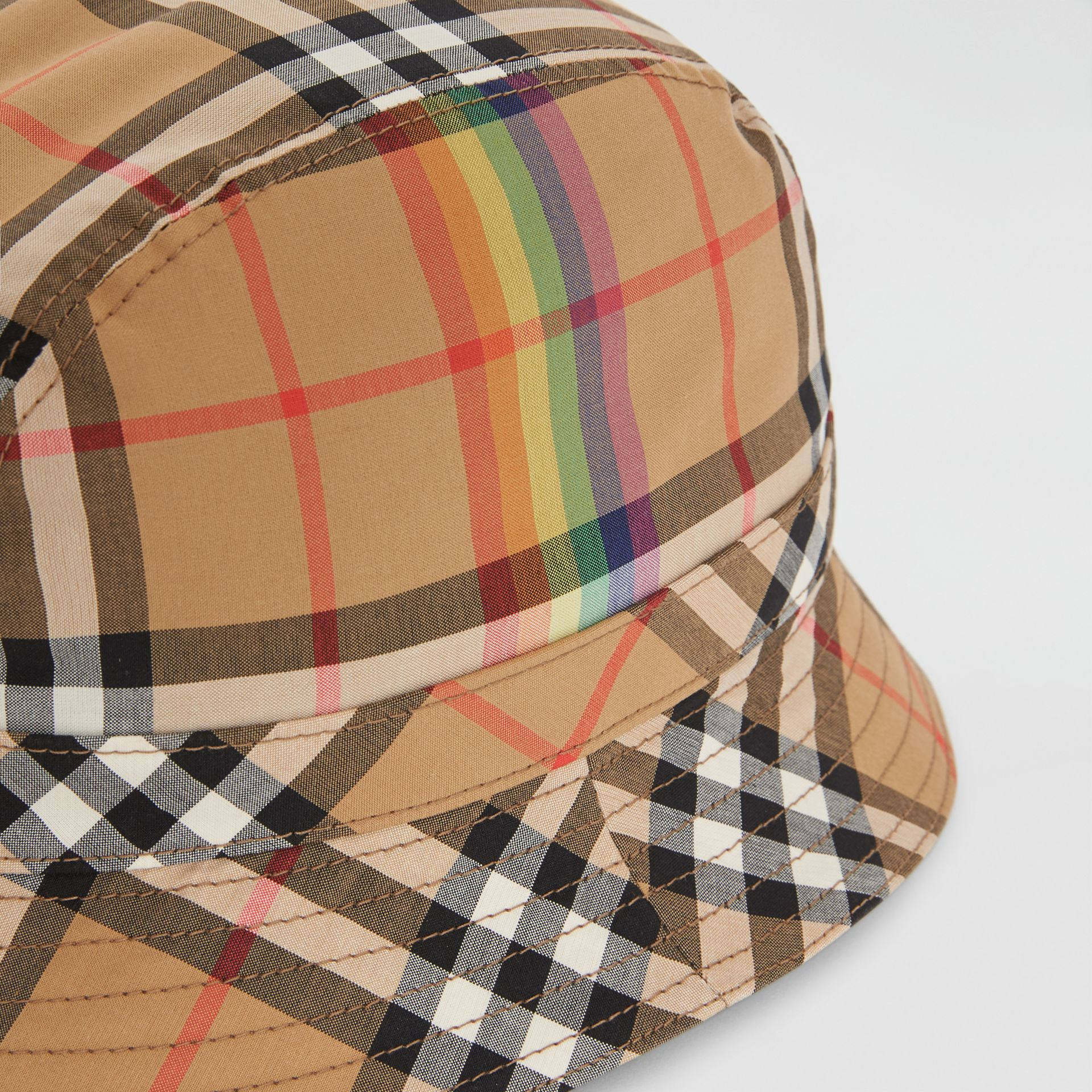 Vintage Check Bucket Hat in Antique Yellow/rainbow | Burberry United States - gallery image 1