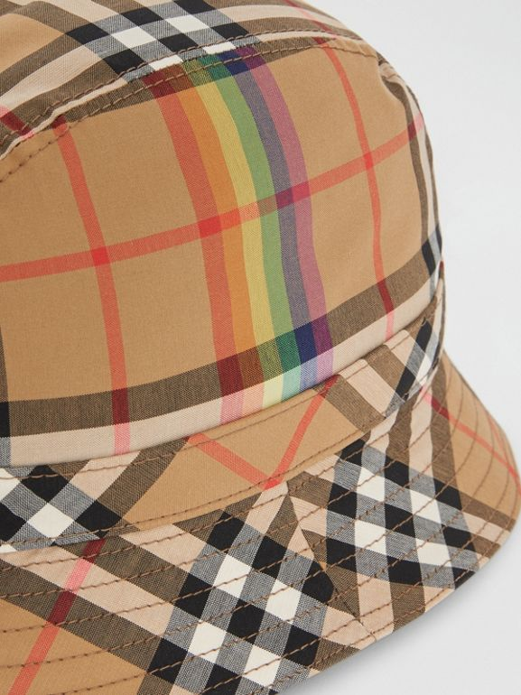 Vintage Check Bucket Hat in Antique Yellow/rainbow | Burberry United States - cell image 1