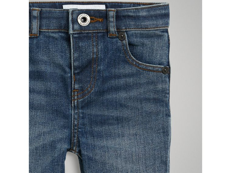 Skinny Fit Stretch Denim Jeans in Mid Indigo | Burberry Canada - cell image 4