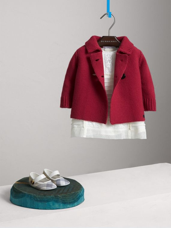 Cashmere Knitted Coat in Dusty Peony Rose