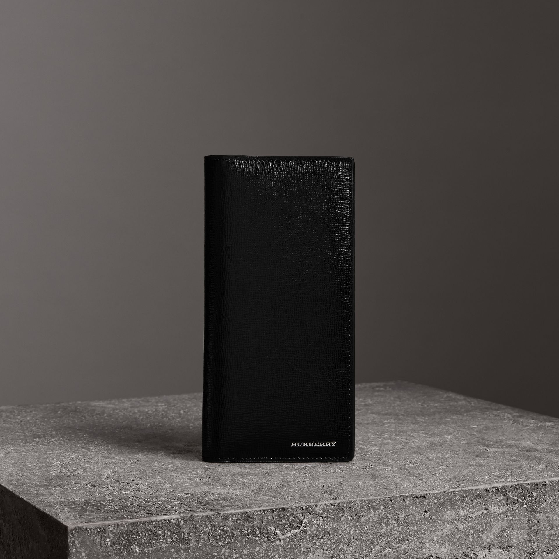 London Leather Continental Wallet in Black | Burberry United Kingdom - gallery image 0