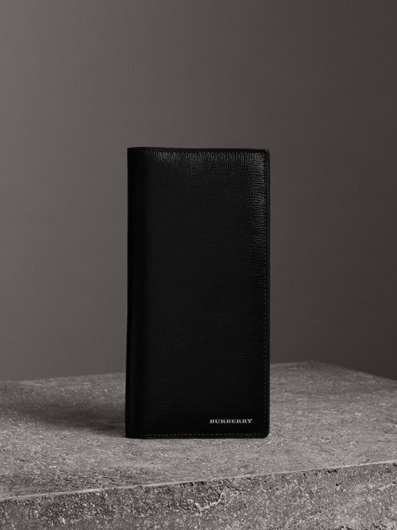 London Leather Continental Wallet in Black