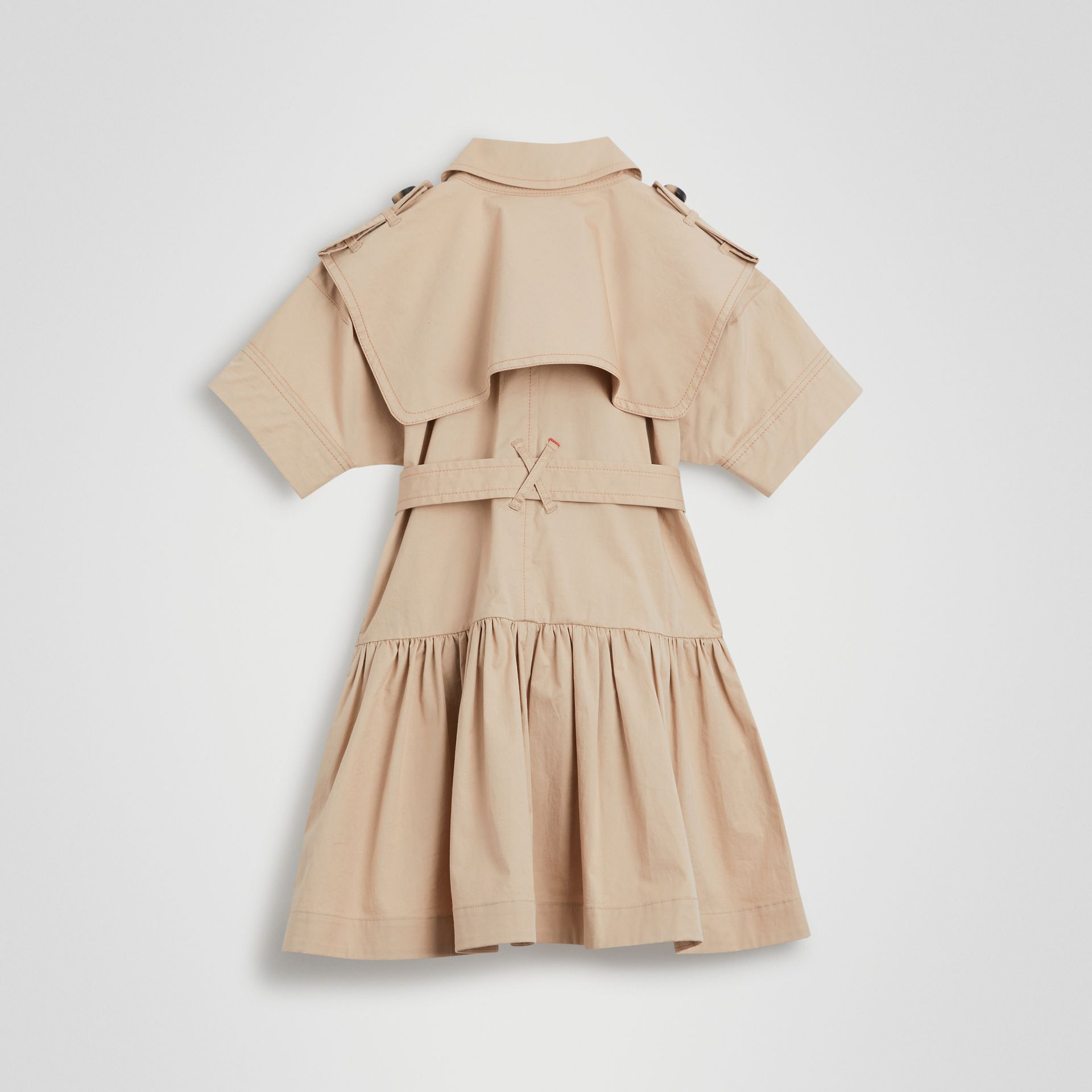 Stretch Cotton Trench Dress in Honey | Burberry Singapore - gallery image 3