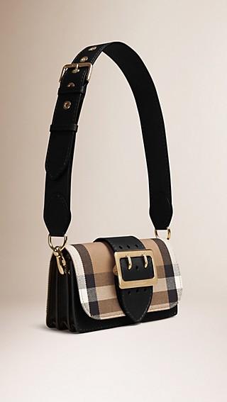 Petit sac The Belt en coton House check et cuir