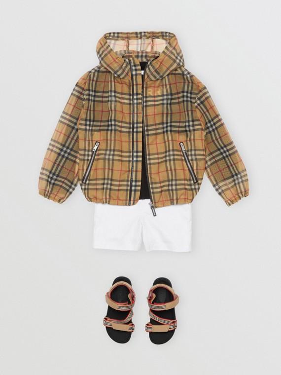 Легкая куртка в клетку Vintage Check (Античный Желтый)