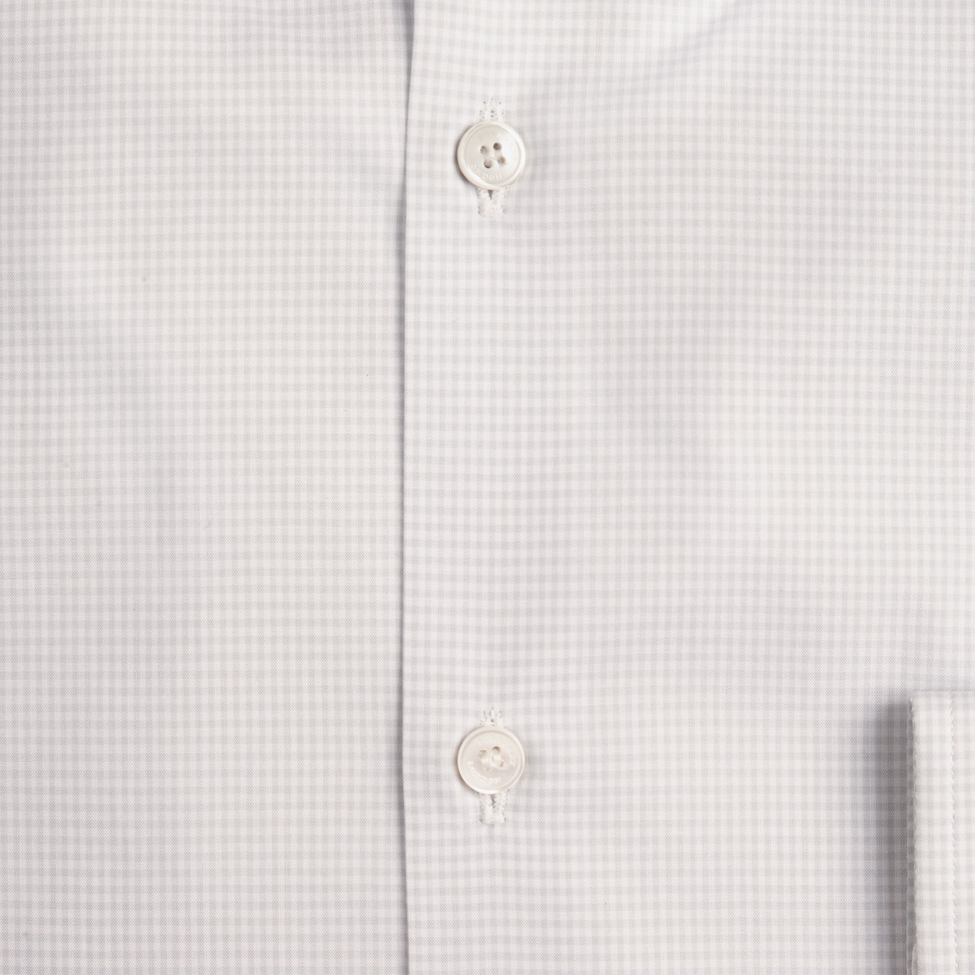 City grey Slim Fit Button-down Collar Gingham Cotton Poplin Shirt - gallery image 2