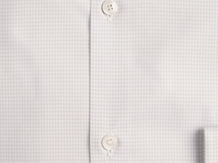 City grey Slim Fit Button-down Collar Gingham Cotton Poplin Shirt - cell image 1