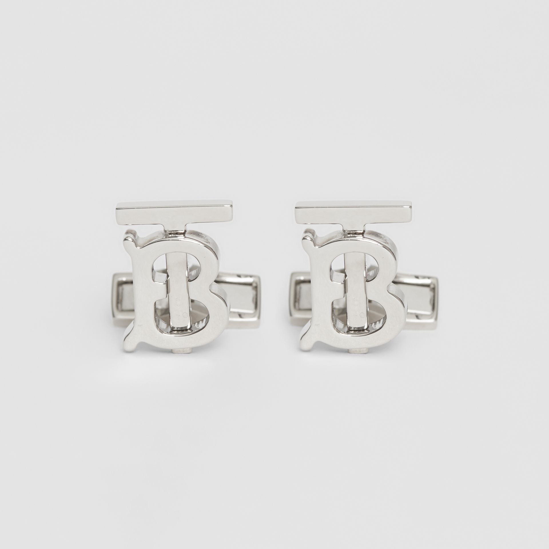 Monogram Motif Palladium-plated Cufflinks - Men | Burberry - gallery image 0