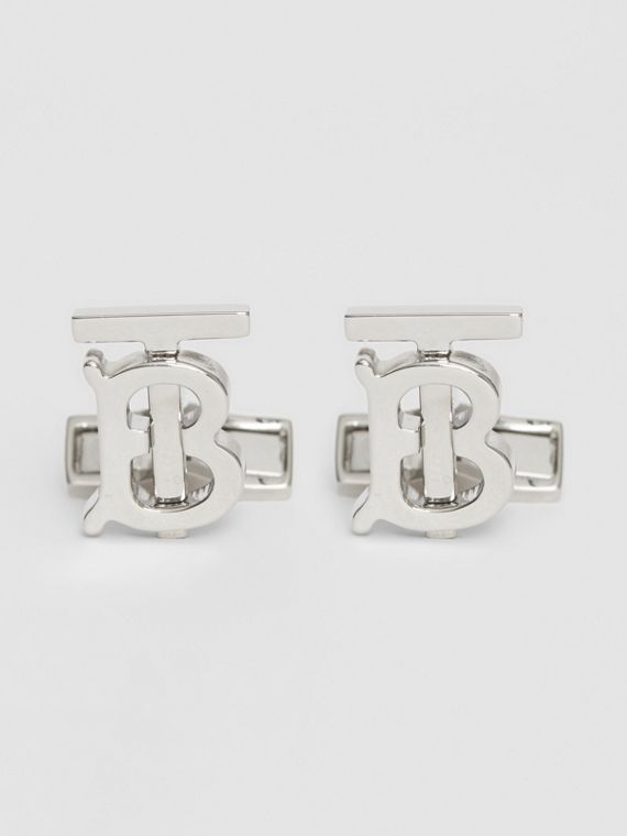 Monogram Motif Palladium-plated Cufflinks