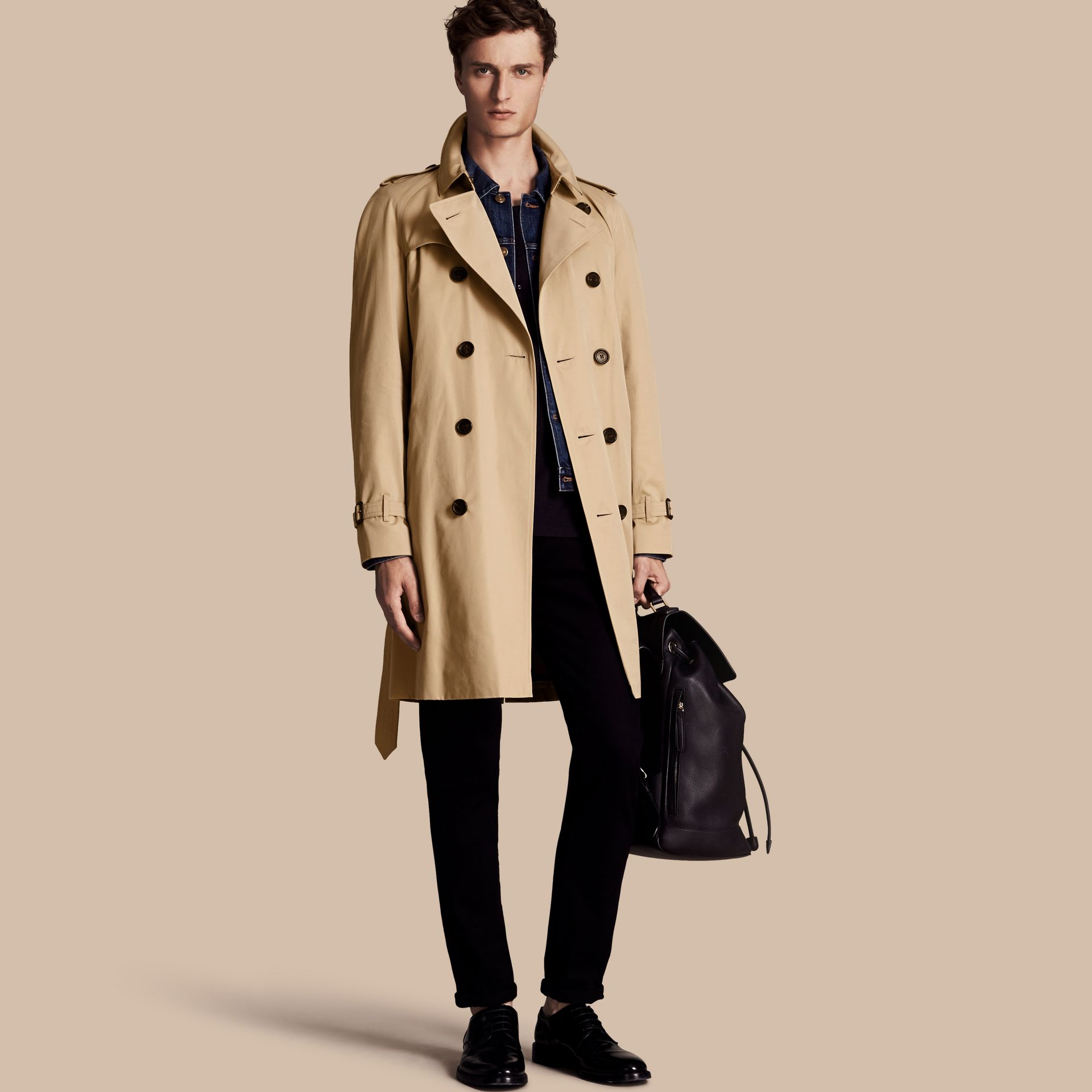 Honey The Wiltshire – Long Heritage Trench Coat Honey - gallery image 1