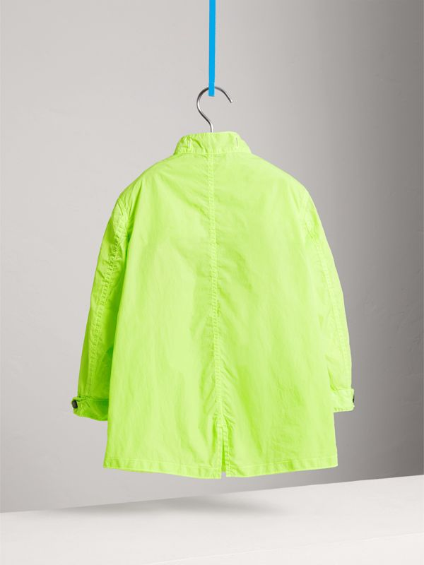 Detachable Hood Lightweight Parka Coat in Neon Yellow | Burberry - cell image 3