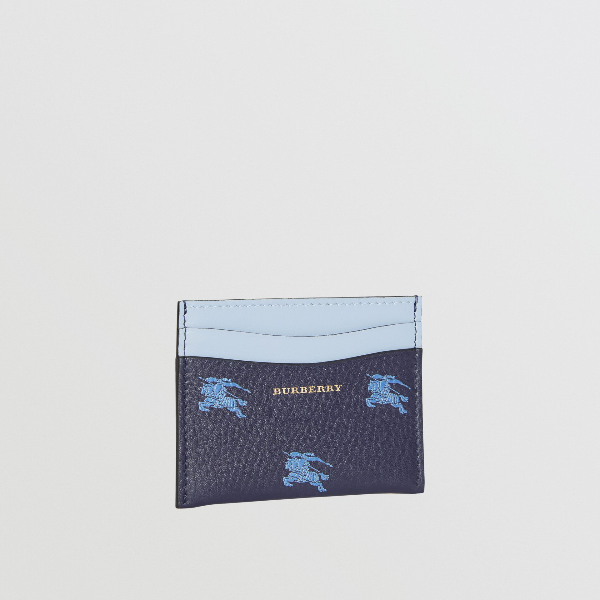 EKD Leather Card Case in Regency Blue - Women | Burberry - gallery image 3