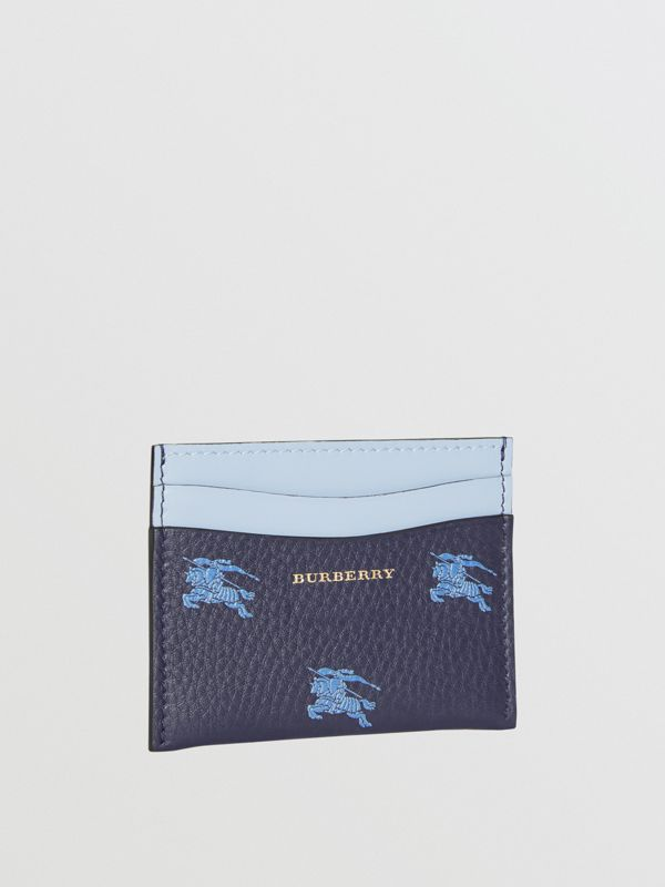 EKD Leather Card Case in Regency Blue - Women | Burberry - cell image 3