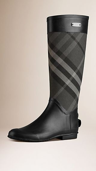Regenstiefel mit Check-Panel