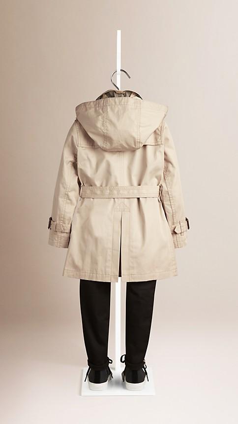 Trench Trench-coat à capuche en sergé de coton - Image 3