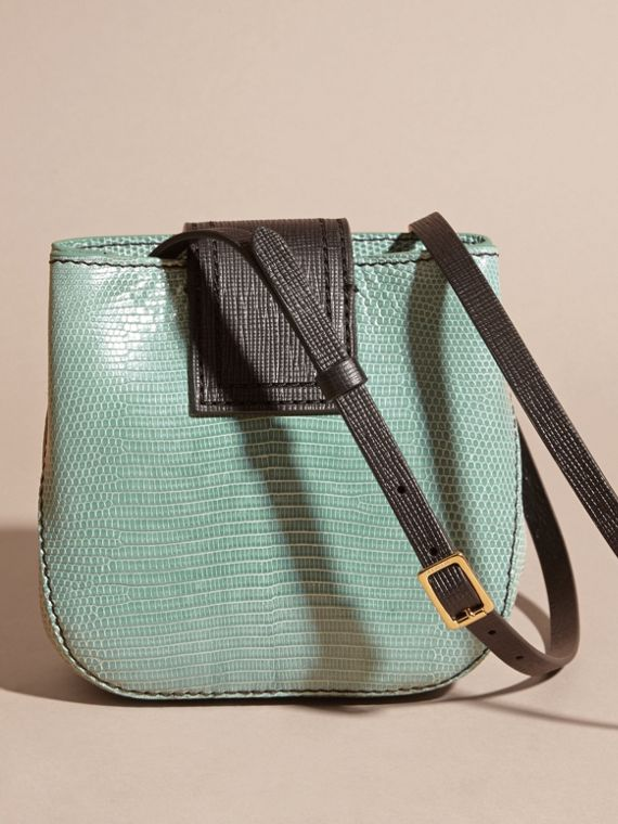 Dusty mint The Small Square Buckle Bag in Lizard - cell image 2