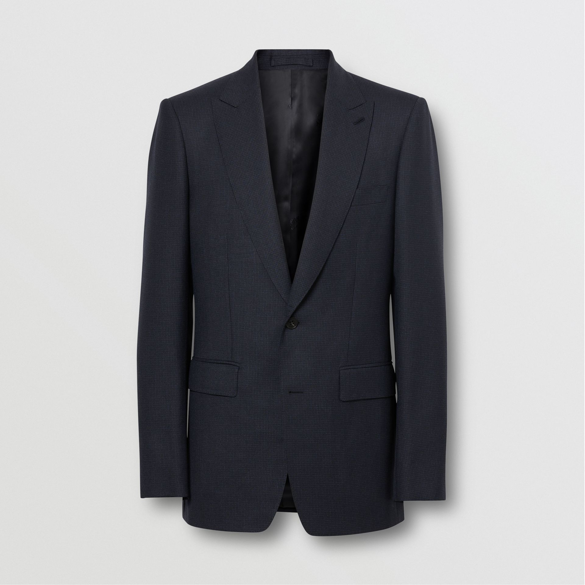 English Fit Puppytooth Check Wool Suit in Dark Navy - Men | Burberry Singapore - gallery image 3