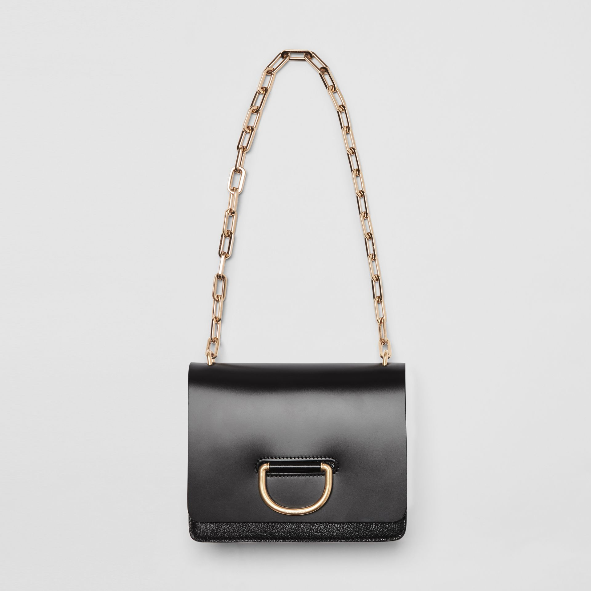 Petit sac The D-ring en cuir (Noir) - Femme | Burberry - photo de la galerie 4