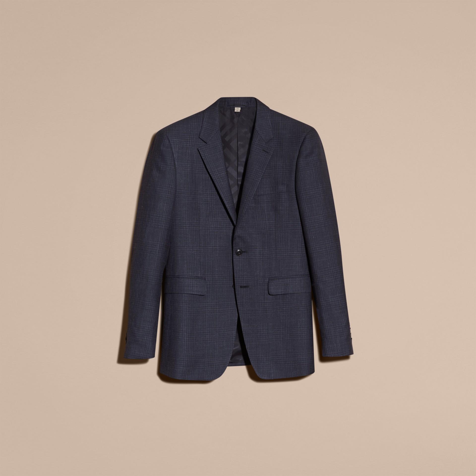 Modern Fit Wool Silk Blend Half-canvas Suit - gallery image 4