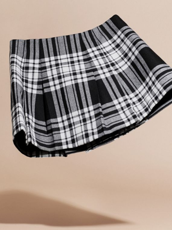 Black/white Check Wool Kilt - cell image 3