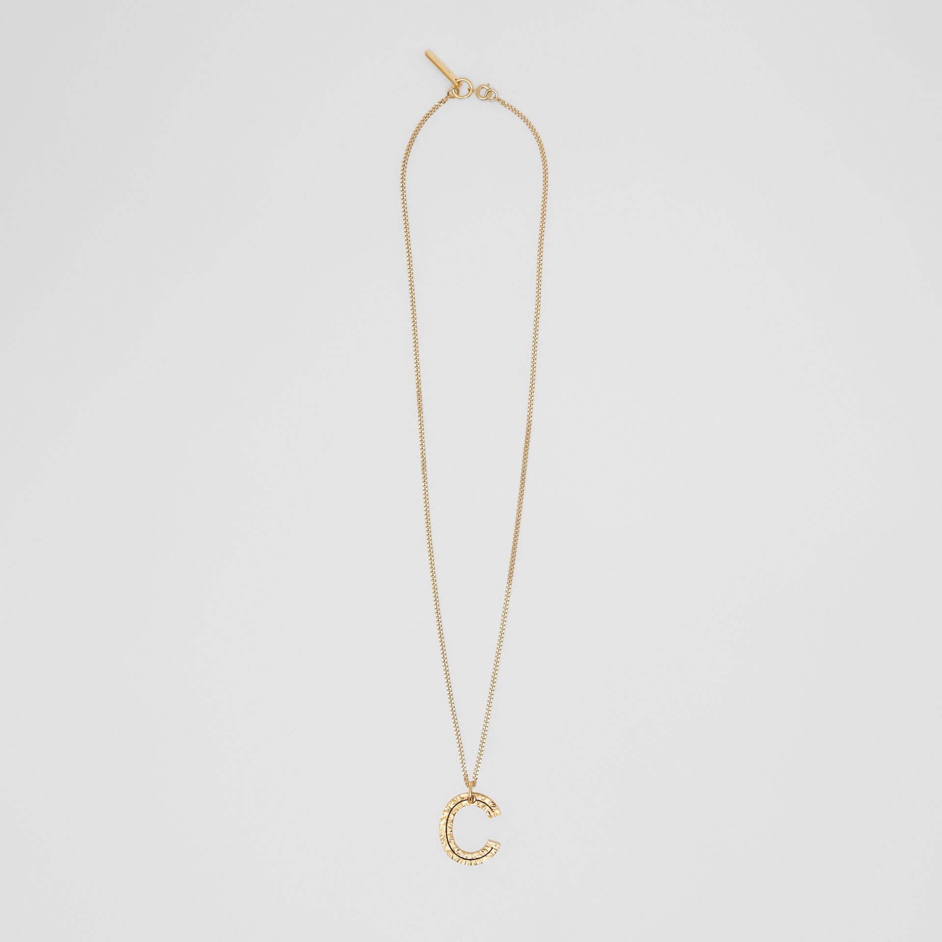 'C' Alphabet Charm Gold-plated Necklace in Light - Women | Burberry United Kingdom - gallery image 0