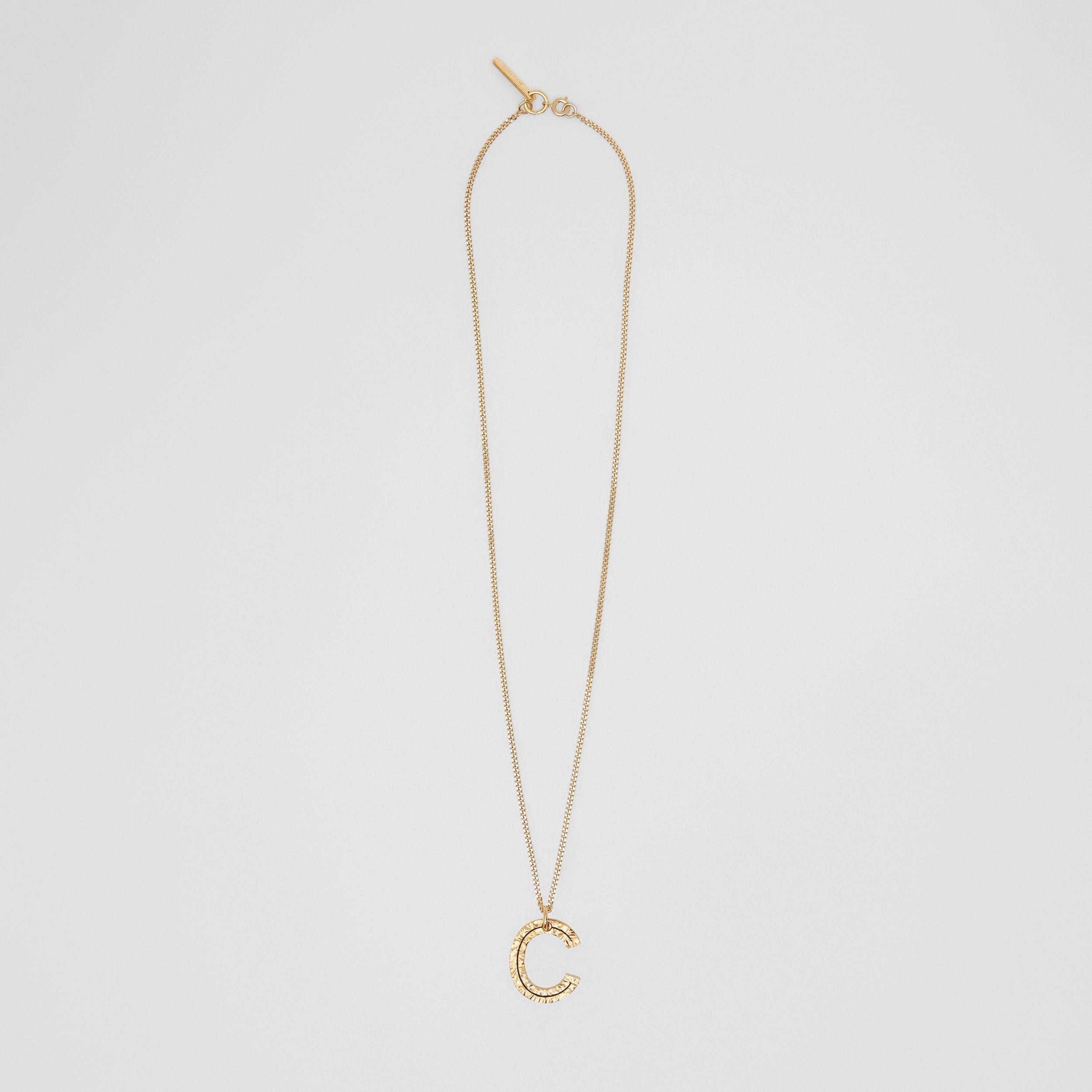 'C' Alphabet Charm Gold-plated Necklace in Light - Women | Burberry - 1