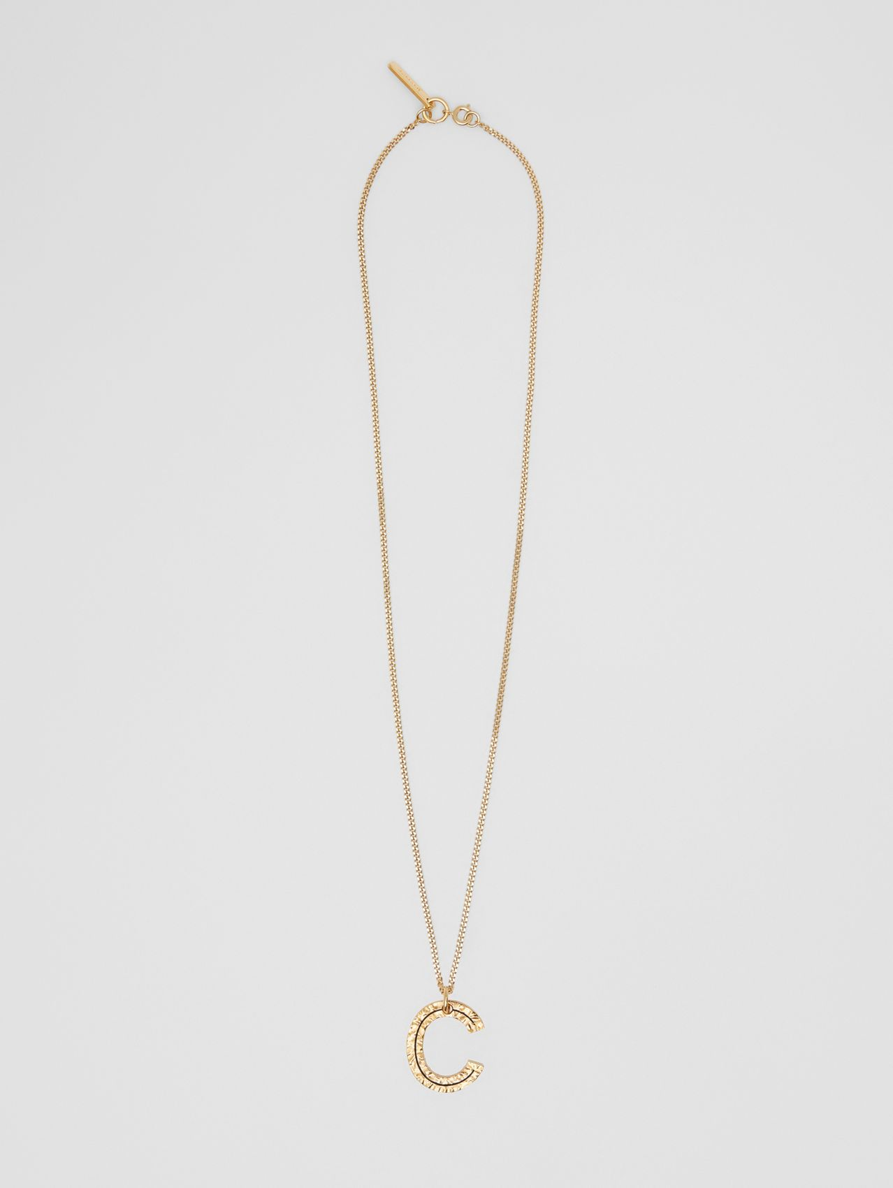 'C' Alphabet Charm Gold-plated Necklace in Light