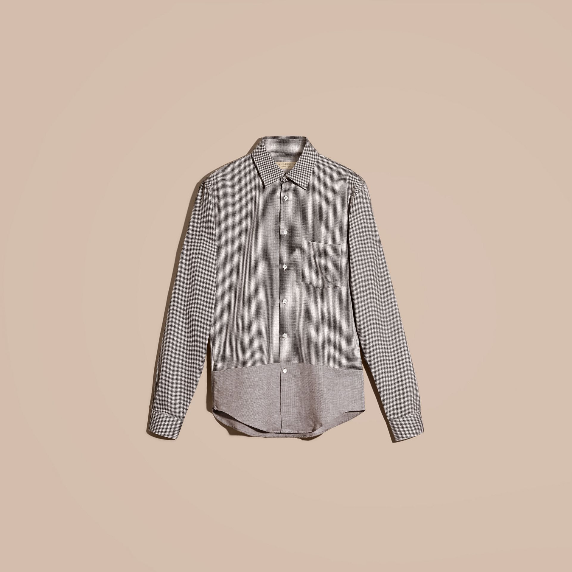 Black Puppytooth Cotton Shirt - gallery image 4
