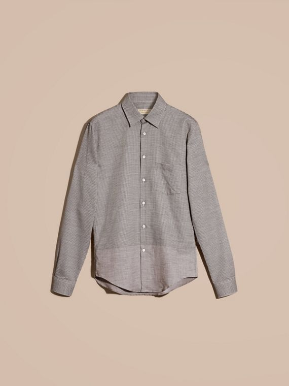 Black Puppytooth Cotton Shirt - cell image 3