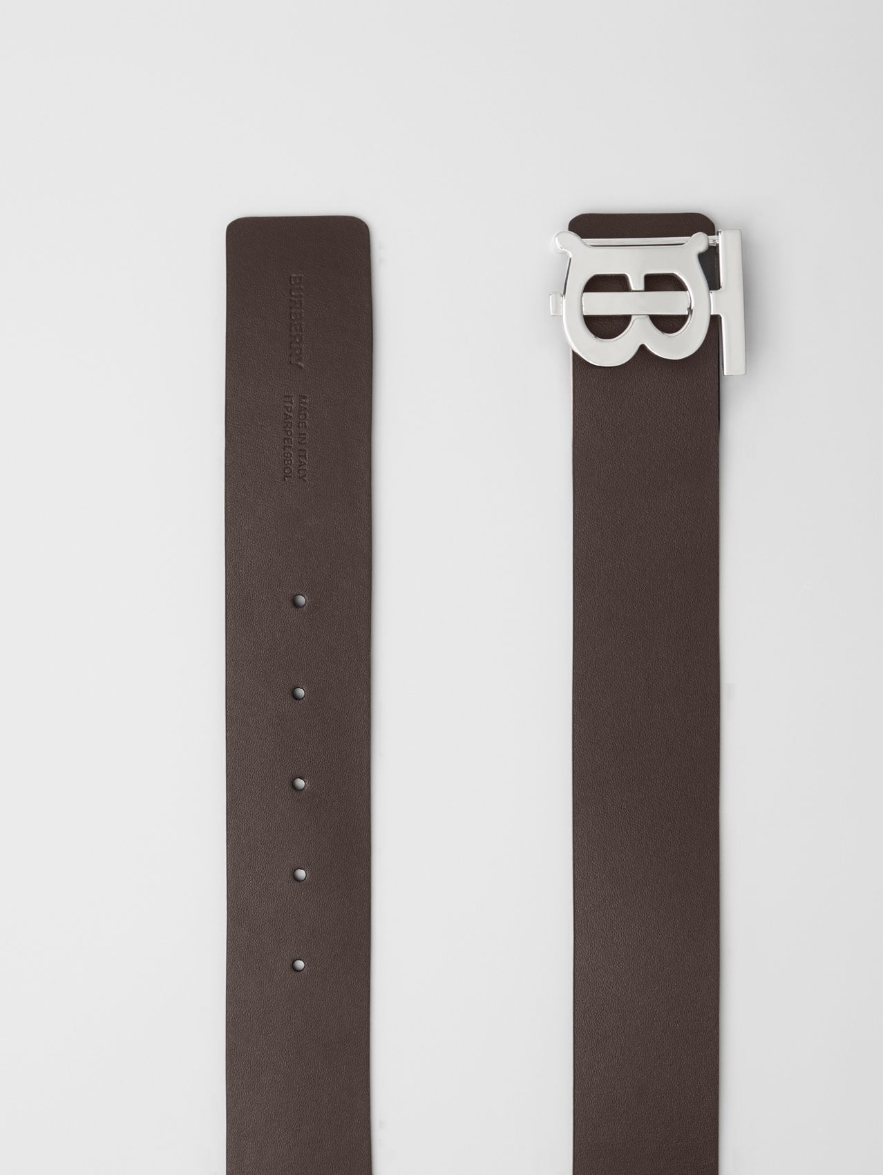 Reversible Monogram Motif Leather Belt (Black/malt Brown)