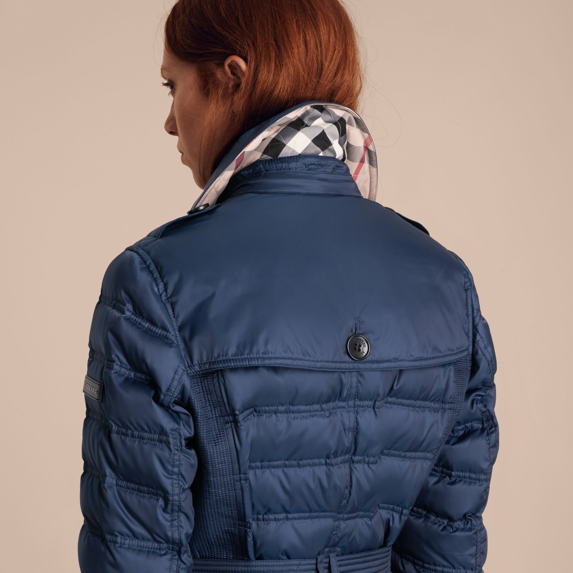 Down-filled Puffer Coat in Bright Navy - gallery image 6