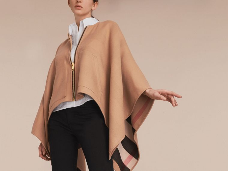 Merino Wool Cape Camel - cell image 4